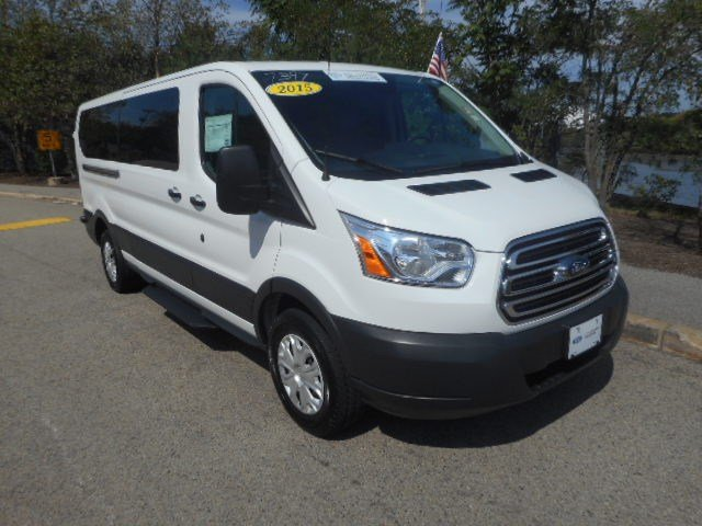certified pre owned 2015 ford transit 350 wagon xlt full size passenger van transit in quincy. Black Bedroom Furniture Sets. Home Design Ideas